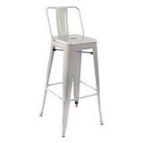 Greenford Grey Bar Stool with Back