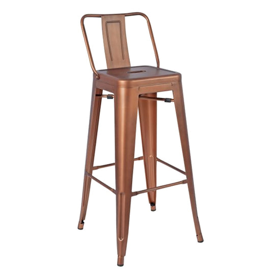 Brilliant Greenford Vintage Copper Bar Stool With Back Caraccident5 Cool Chair Designs And Ideas Caraccident5Info