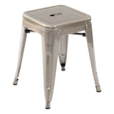 Greenford Gunmetal Low Stool