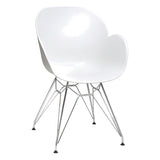 Harrow Armchair with Chrome Steel Leg
