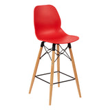 Harrow Bar Stool with Wooden Leg
