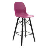 Harrow Bar Stool with Black Wooden Leg