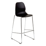 Harrow Bar Stool with Chrome Hoop Leg