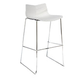 Leyton High Stool with Chrome Hoop Legs