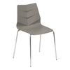 Leyton Side Chair with Chrome Legs