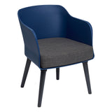 Pimlico Tub Chair with Black Legs