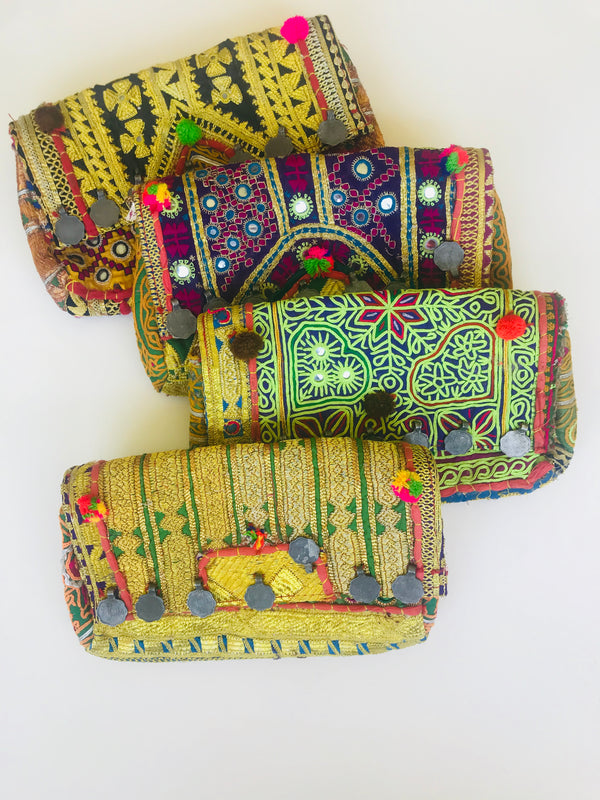 Boho chic clutch/crossbody bags