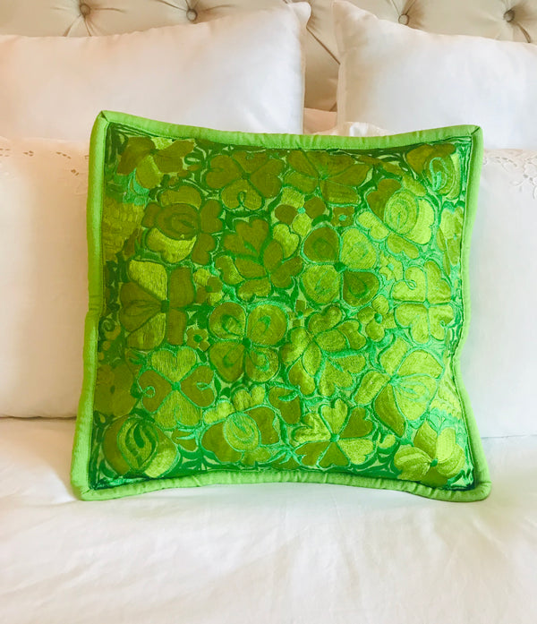 Single Color Embroidered Mexican Cushion Covers