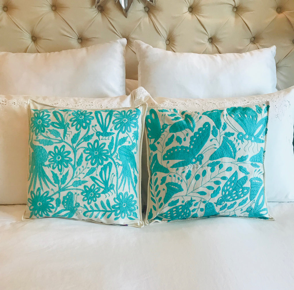 Otomi Turquoise Cushion Covers