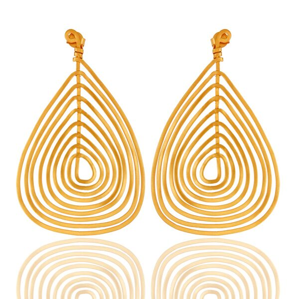 Wire Base 18K Gold Plated Fashion Earrings