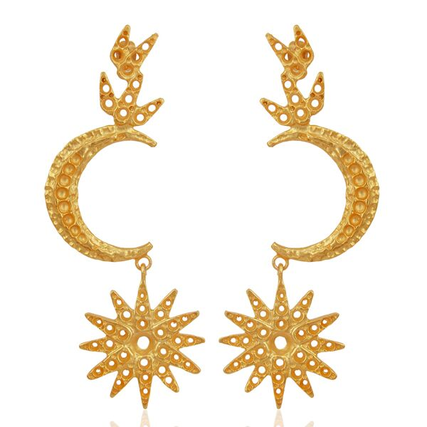 Indian traditional moon design earrings