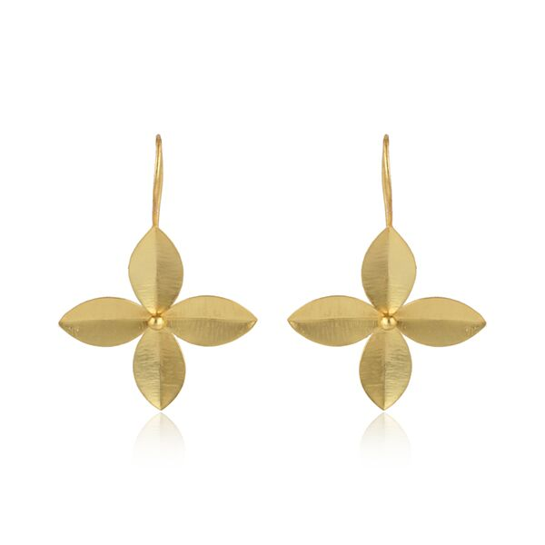 Fashion hook earrings with 4 leaves