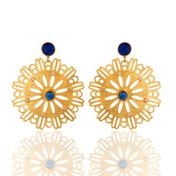 Beautiful 22K yellow gold plated desginer earrings