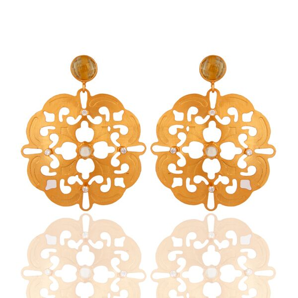 Unique Indian filigree earrings