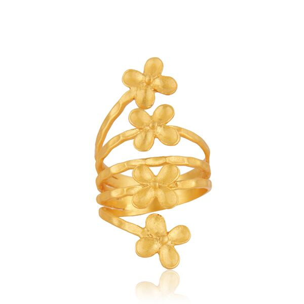 Four small flowers ring
