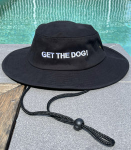 GET THE DOG! Draw String Hat - Black