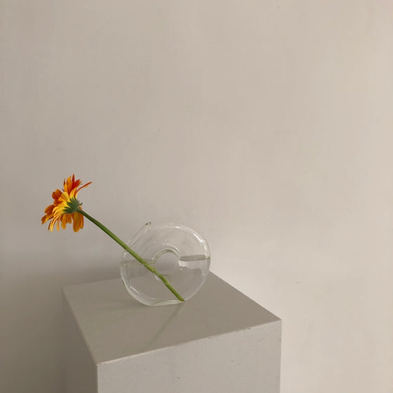 花瓶|clear donut flower vase