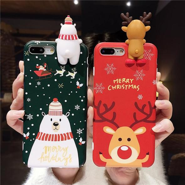 Christmas Theme Soft TPU Phone & Airpods Case
