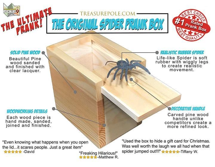 Prank Scare Spider-Buy 3 Free Shipping