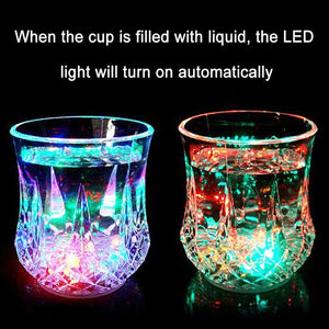 Automatic Water Activated Colorful Flashing LED Beer Glow Glasses