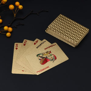 Luxury 24K Gold Foil Poker Playing Cards
