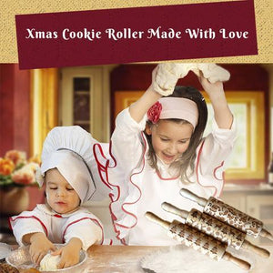 Christmas Rolling Pin-Make decorative and delicious Christmas cookies
