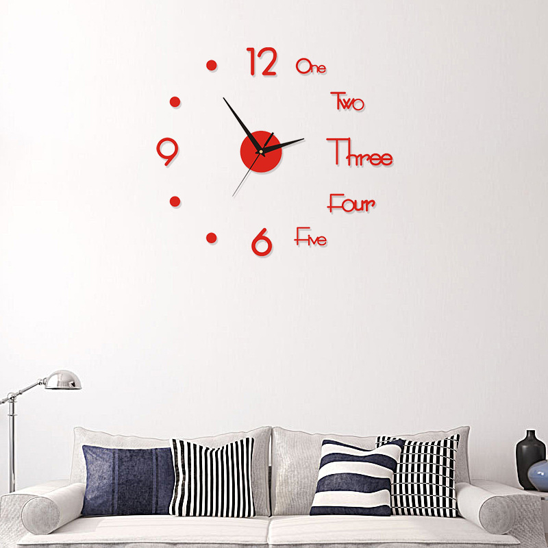 Diy Large Silent Wall Clock Modern Design 3D Wall Sticker - Buy 2 Free Shipping