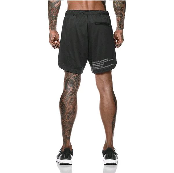 2019 Men's 2 in 1 New Summer Secure Pocket Shorts-BUY 2 FREE SHIPPING