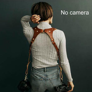 Leather Camera Strap-Free Shipping