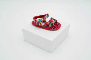 Dolce & Gabbana – Sandals Red with Roses
