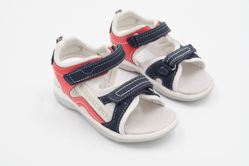Bikkembergs – White Baby Sandall Blue/Red
