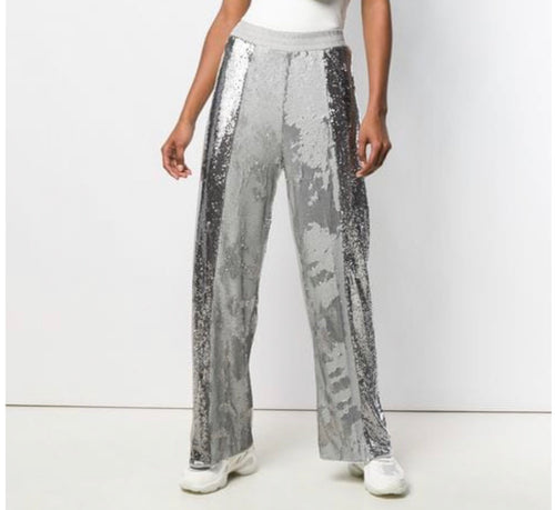 (nude) Sequined Trousers