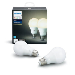 Philips Hue White A19 60W (2 Bulbs)