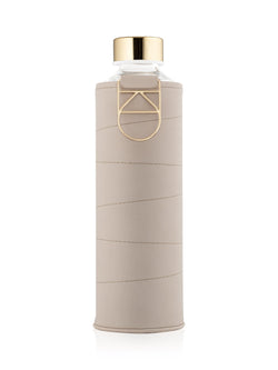 EQUA - Glass Bottle with Faux Leather Cover (Beige)