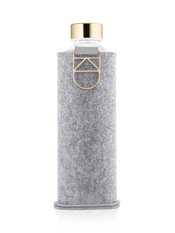 EQUA - Glass Bottle with Felt Covers (Gold)