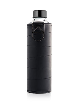 EQUA - Glass Bottle with Faux Leather Cover (Graphite)