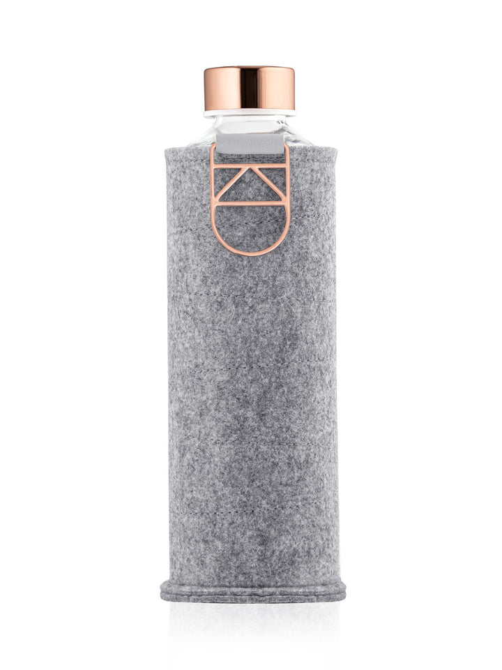 EQUA - Glass Bottle with Felt Covers (Rose Gold)