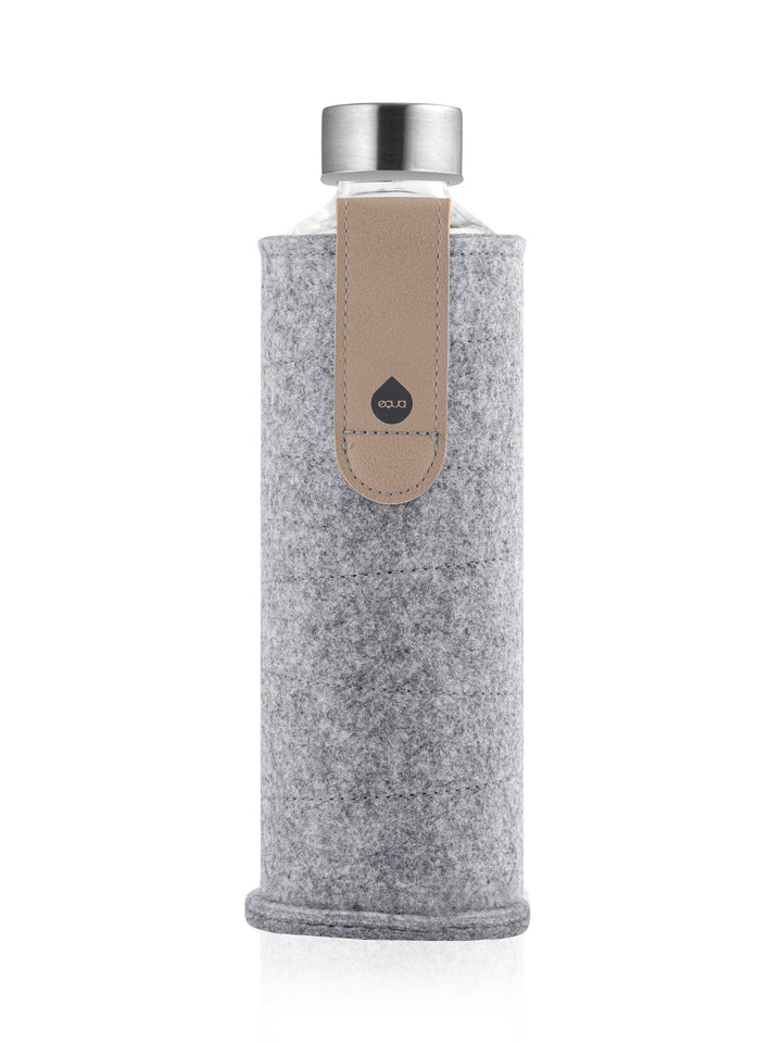 EQUA - Glass Bottle with Felt Covers (Sand Sky)