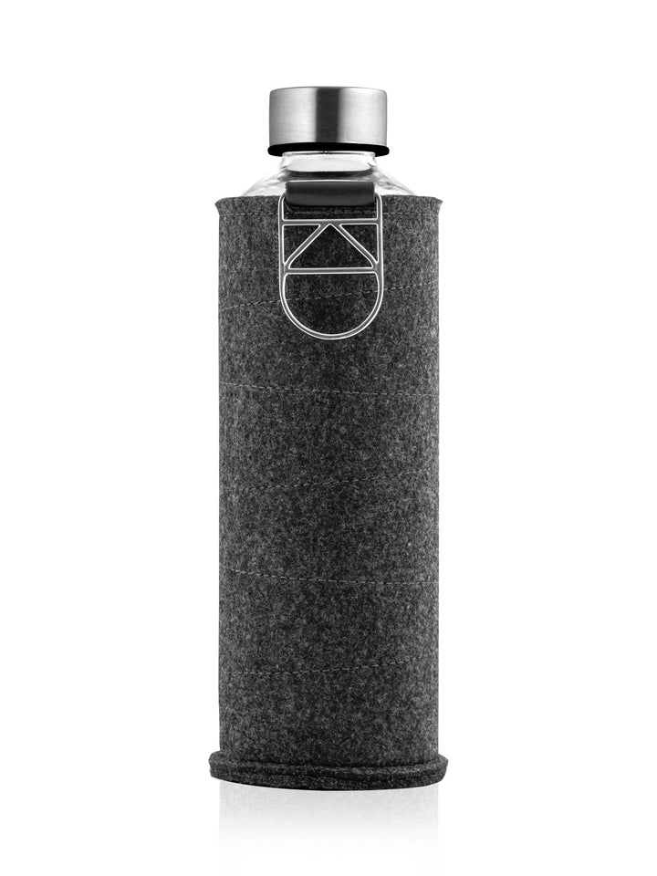 EQUA - Glass Bottle with Felt Covers (Silver)