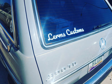 Lerms Customs Vinyl Lettering Sticker 2x14.5