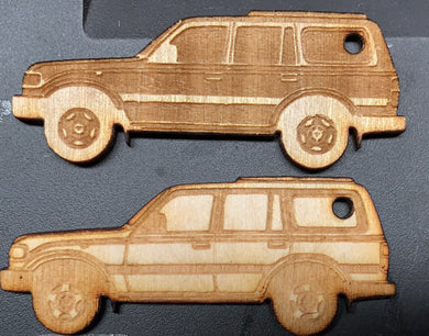 Toyota Land Cruiser Wooden Keychains for sale FJ80, FZJ80, 80 Series Landcruiser
