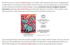 Article snipped from Barista Magazine featuring Jess Doutrich Cat Paintings