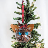 Blue Eyes Brown Cat - Cat Ornament