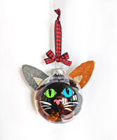Calico Brown Black - Cat Ornament