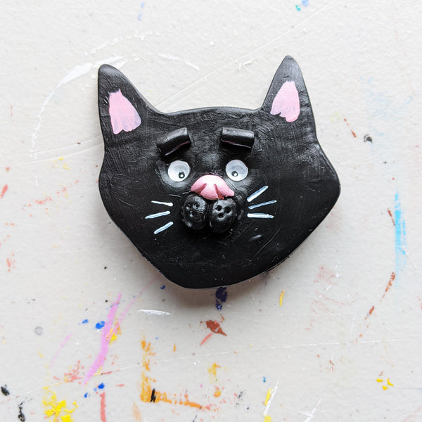 Cute Black Cat Magnet