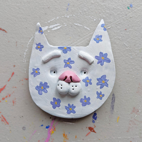 Floral Kitty Magnet