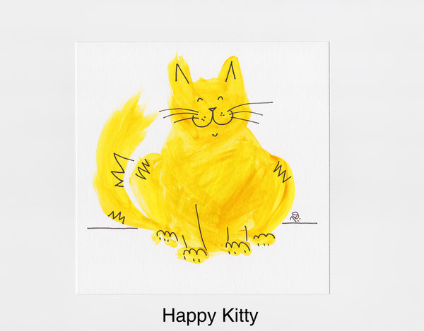 Happy Kitty Frameable Art