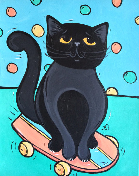Marvin (Skateboarding Cat)