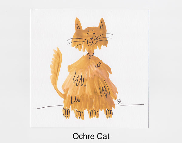 Ochre Cat Frameable Art