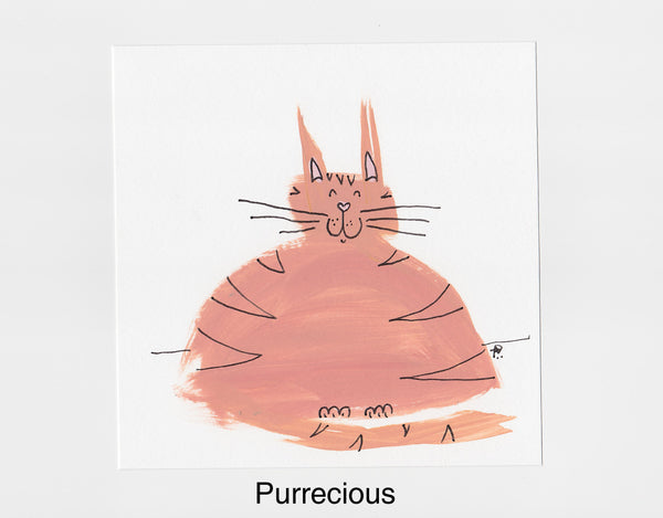 Purr-ecious Cat Frameable Art